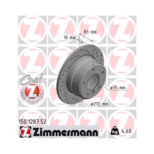 ZIMMERMANN Brake Disc 150.1287.52