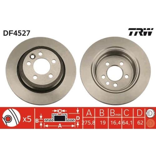 Brake Disc TRW DF4527 MG SAIC MOTOR