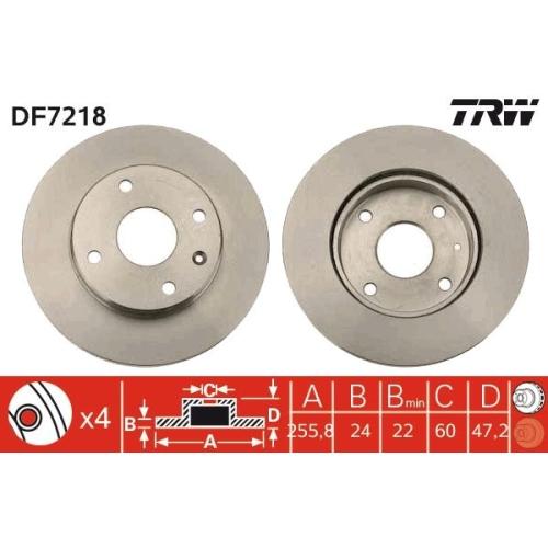 TRW Brake Disc DF7218
