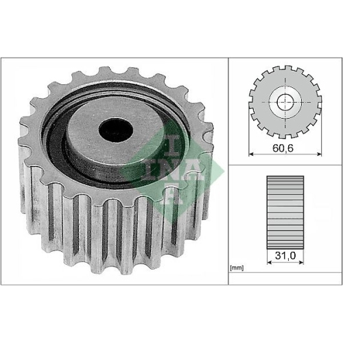 Deflection/Guide Pulley, timing belt INA 532 0220 10 MITSUBISHI OPEL RENAULT