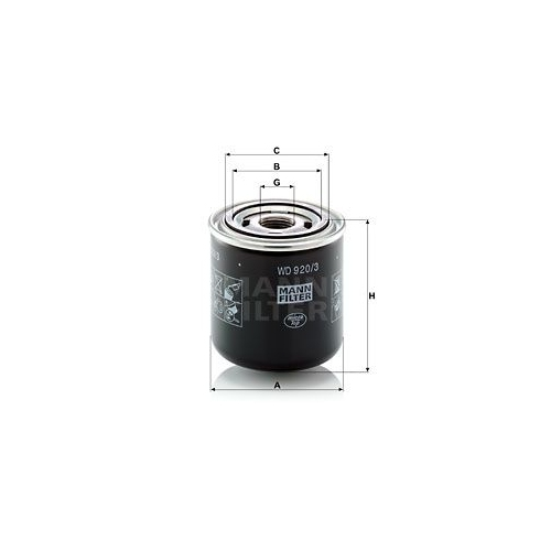 Hydraulikfilter, Automatikgetriebe MANN-FILTER WD 920/3 JCB BENFORD TEREX