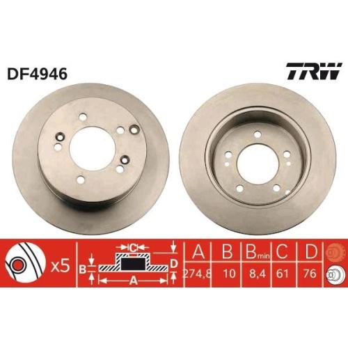 Brake Disc TRW DF4946 KIA