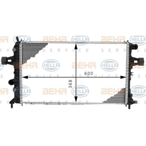 HELLA Radiator, engine cooling 8MK 376 710-334