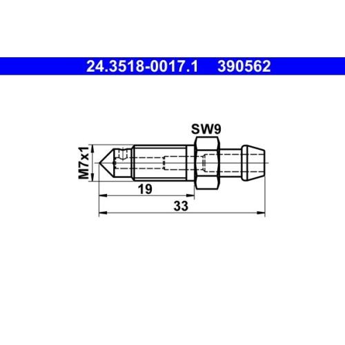 Breather Screw / Valve ATE 24.3518-0017.1