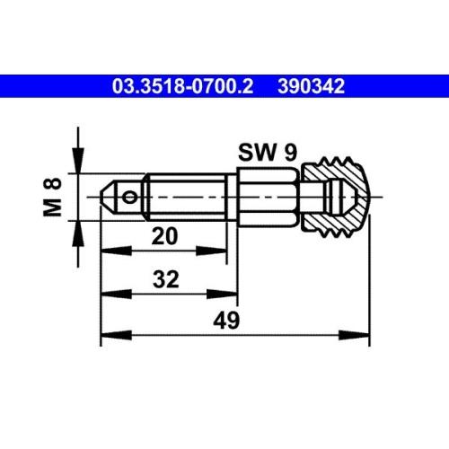 Entlüfterschraube/-ventil ATE 03.3518-0700.2 BUESSING MERCEDES-BENZ STEYR
