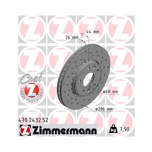 ZIMMERMANN Brake Disc 470.2432.52