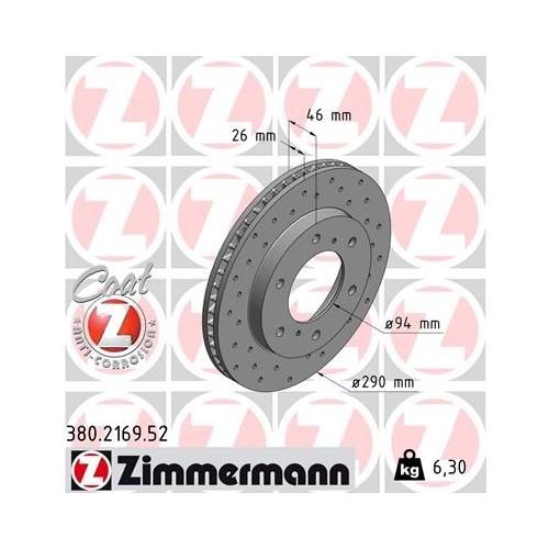ZIMMERMANN Brake Disc 380.2169.52