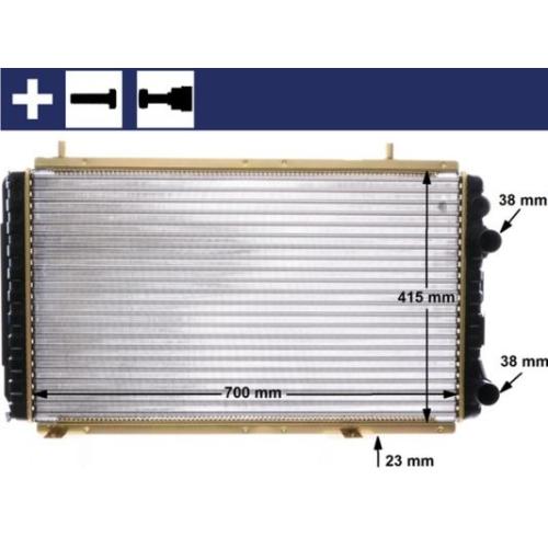 Kühler, Motorkühlung MAHLE CR 168 000S FIAT