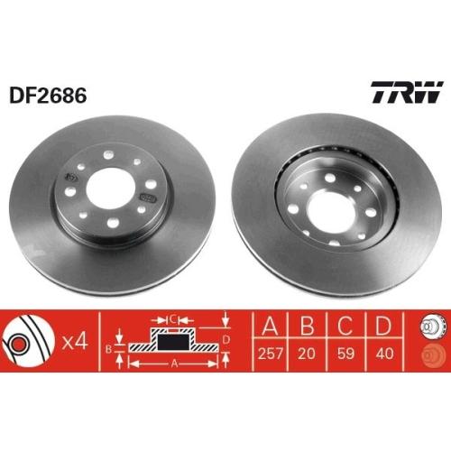 TRW Brake Disc DF2686
