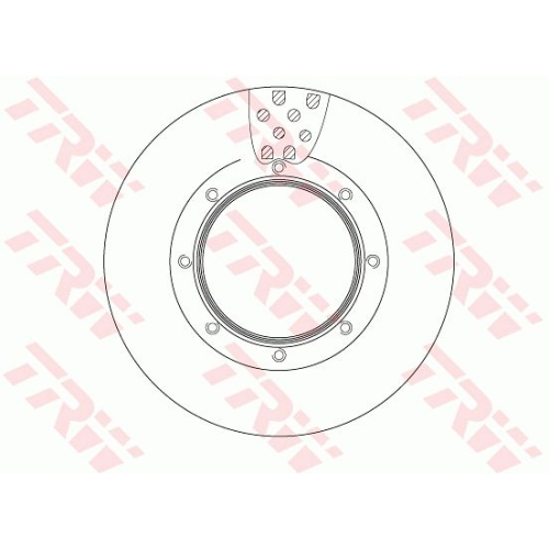 Brake Disc TRW DF5031S MERCEDES-BENZ