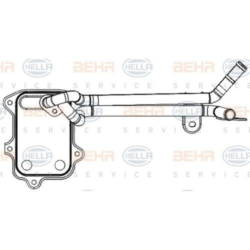 HELLA Oil Cooler, engine oil 8MO 376 797-041