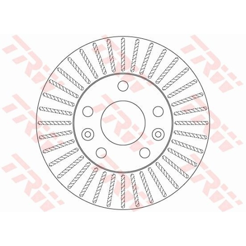 Brake Disc TRW DF6200 RENAULT DACIA