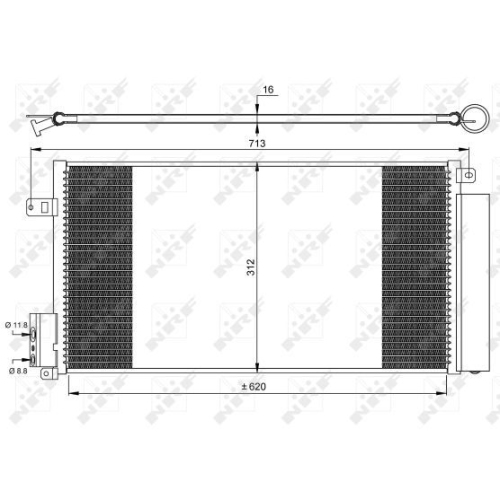 Kondensator, Klimaanlage NRF 35750 EASY FIT ALFA ROMEO CHRYSLER FIAT LANCIA OPEL