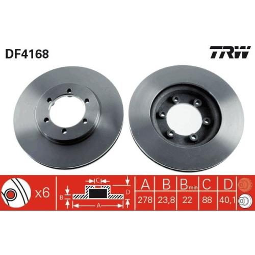 TRW Bremsscheibe DF4168