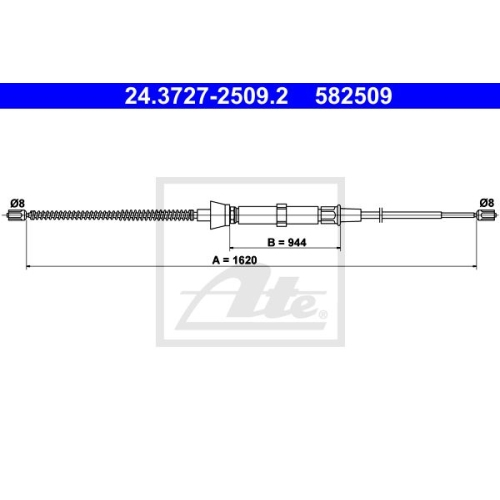 ATE Cable, parking brake 24.3727-2509.2