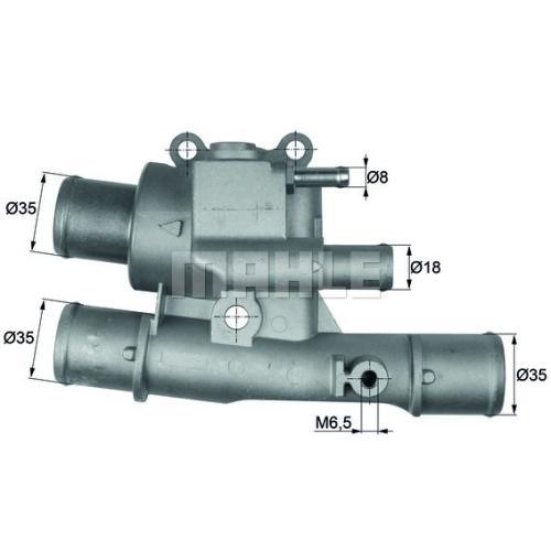 Thermostat, coolant BEHR TI 123 88 FIAT