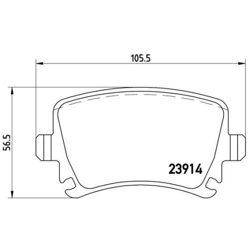 BREMBO Brake Pad Set, disc brake P 85 095