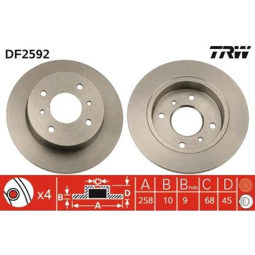 TRW Brake Disc DF2592