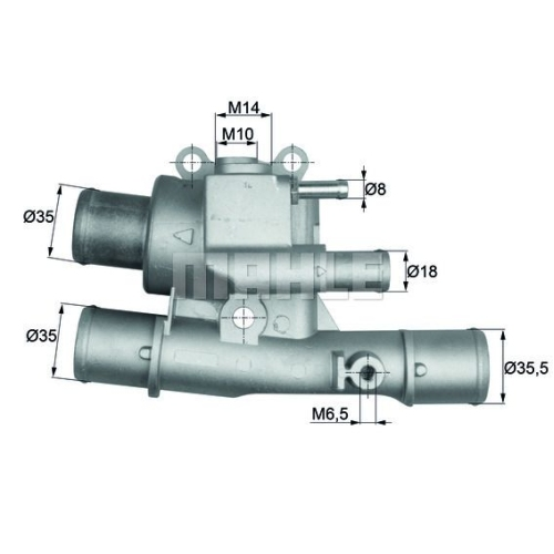 Thermostat, coolant MAHLE TI 124 88 FIAT