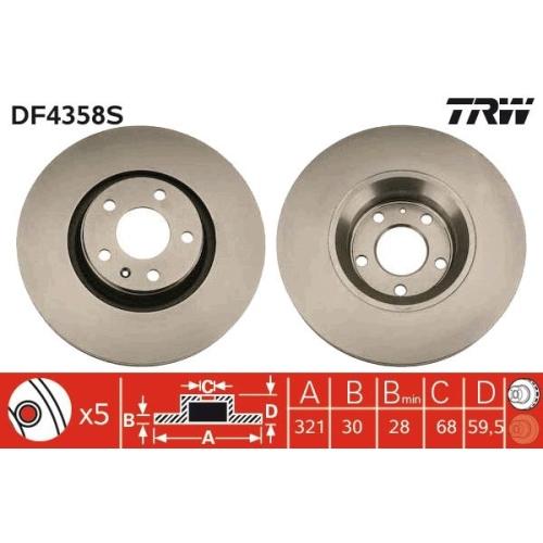 TRW Bremsscheibe DF4358S