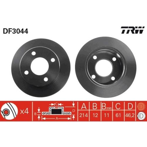TRW Bremsscheibe DF3044