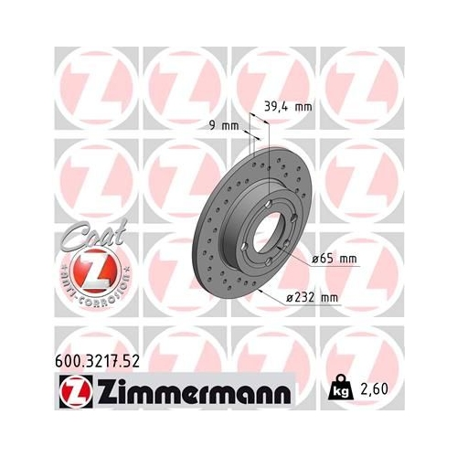 ZIMMERMANN Brake Disc 600.3217.52