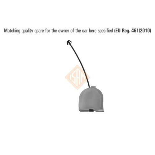 ISAM 0130825 flap tow hook rear for Fiat 500