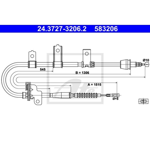 ATE Cable, parking brake 24.3727-3206.2