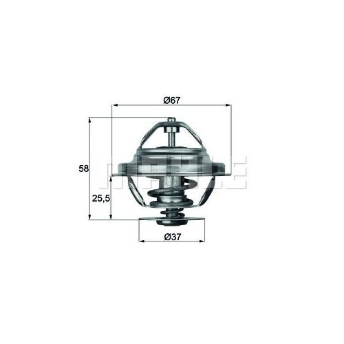 Thermostat, coolant BEHR TX 20 80D MERCEDES-BENZ SCANIA