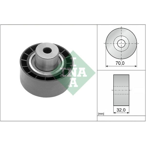 Deflection/Guide Pulley, timing belt INA 532 0232 10 ROVER ROEWE (SAIC)