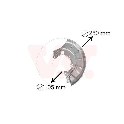 Splash Panel, brake disc VAN WEZEL 5812371 VW