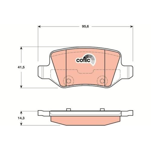 TRW Brake Pad Set, disc brake GDB1481