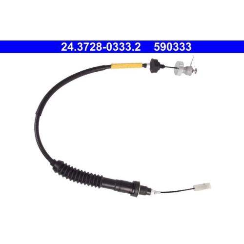 Seilzug, Kupplungsbetätigung ATE 24.3728-0333.2 CITROËN FIAT PEUGEOT