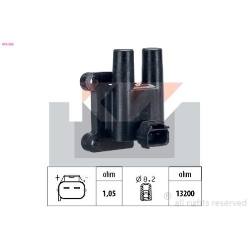 Zündspule KW 470 583 Made in Italy - OE Equivalent HYUNDAI