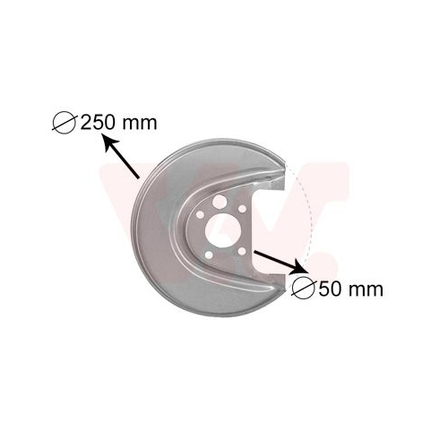 VAN WEZEL Splash Panel, brake disc 5888373