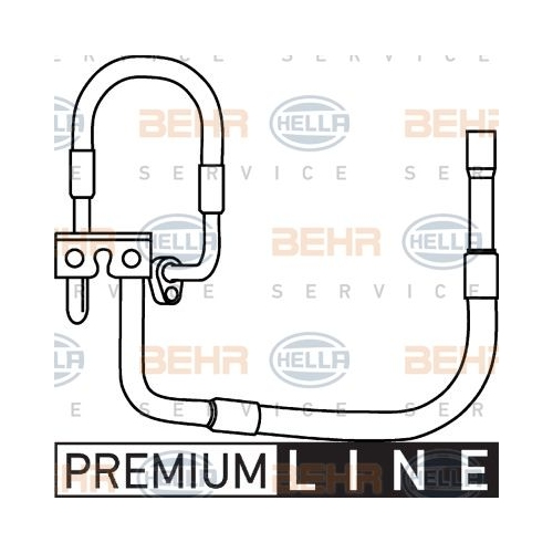 High-/Low Pressure Line, air conditioning HELLA 9GS 351 337-271 FORD