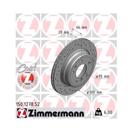 ZIMMERMANN Brake Disc 150.1278.52