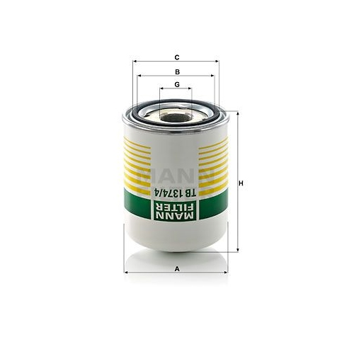 Air Dryer Cartridge, compressed-air system MANN-FILTER TB 1374/4 x MERCEDES-BENZ