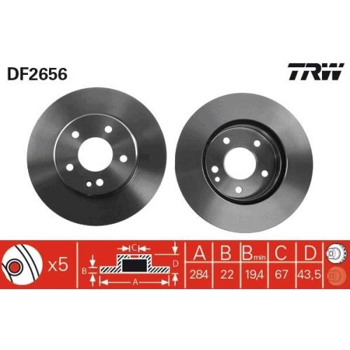 Brake Disc TRW DF2656 MERCEDES-BENZ