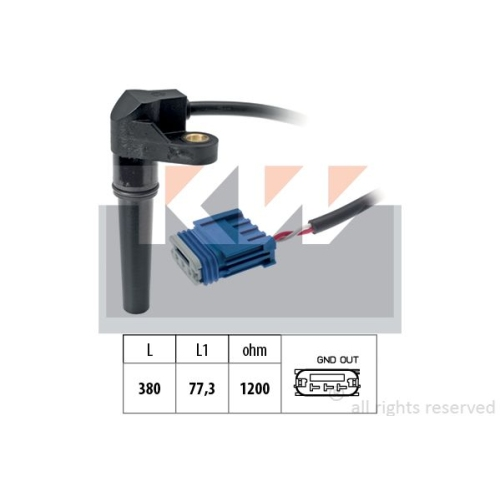 Drehzahlsensor, Automatikgetriebe KW 453 618 Made in Italy - OE Equivalent FIAT