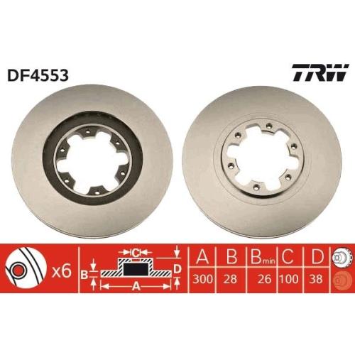 Brake Disc TRW DF4553 NISSAN INFINITI
