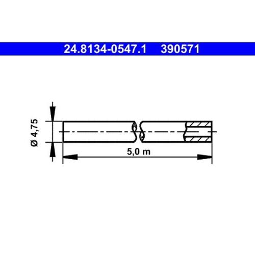 Bremsleitung ATE 24.8134-0547.1