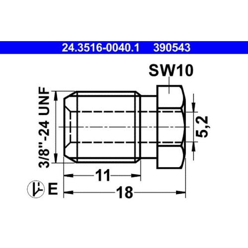 Überwurfschraube ATE 24.3516-0040.1