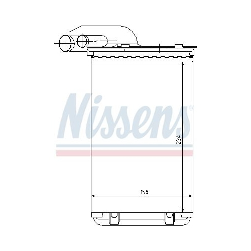 Heat Exchanger, interior heating NISSENS 73252 RENAULT