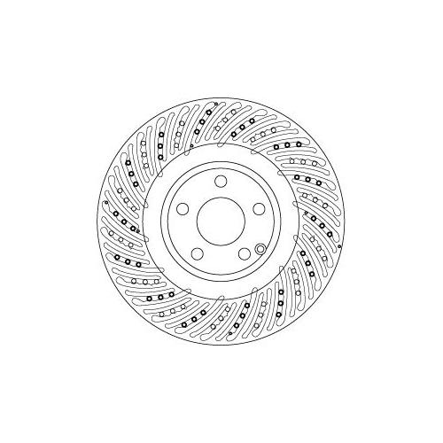 TRW Brake Disc DF6674S