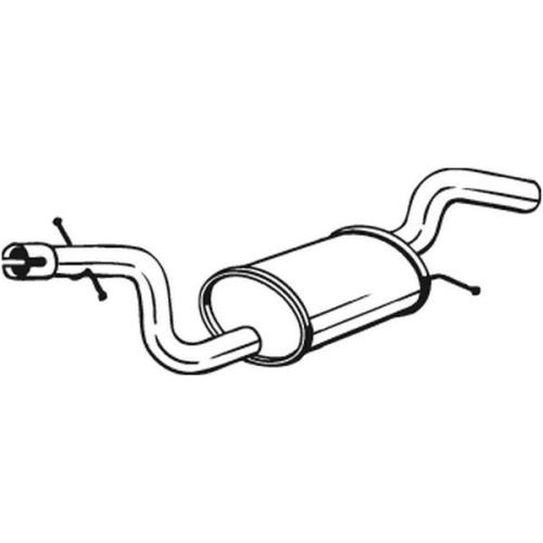 Middle Silencer BOSAL 233-767 SKODA VW
