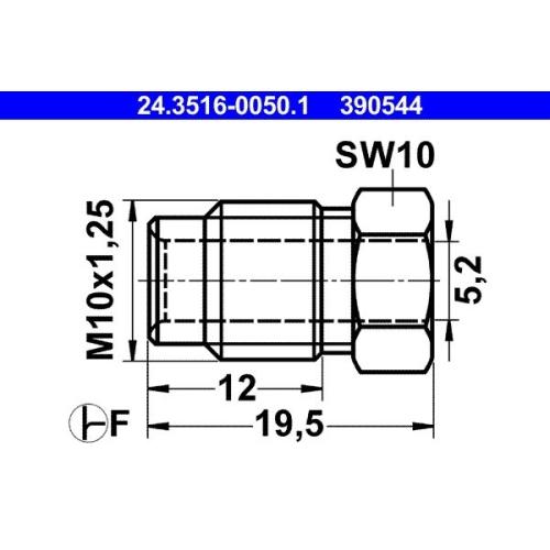 Überwurfschraube ATE 24.3516-0050.1