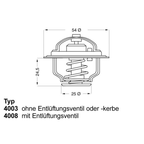 WAHLER Thermostat 4008.74D