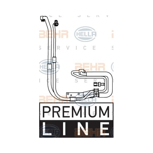 High-/Low Pressure Line, air conditioning HELLA 9GS 351 337-651 FORD
