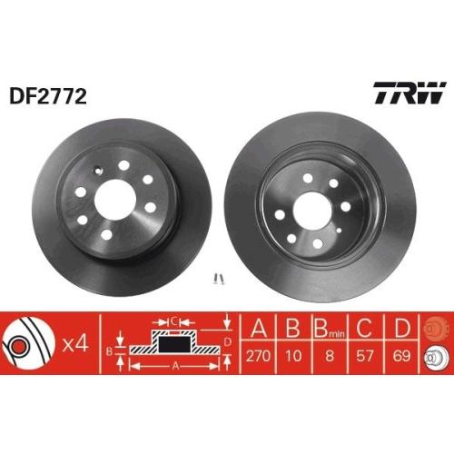 TRW Brake Disc DF2772